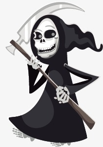 211x302 Cartoon Death, Grim Reaper, Sickle, Vector Png And Vector For Free