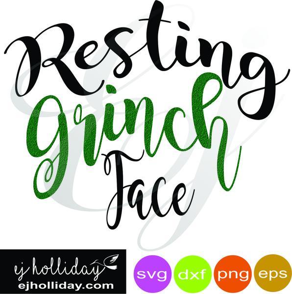 596x600 Resting Grinch Face Svg Dxf Eps Png Vector Graphic Design Digital