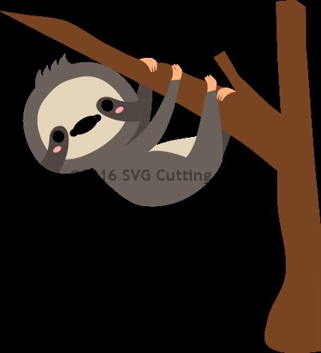 455x500 Sloth Vector