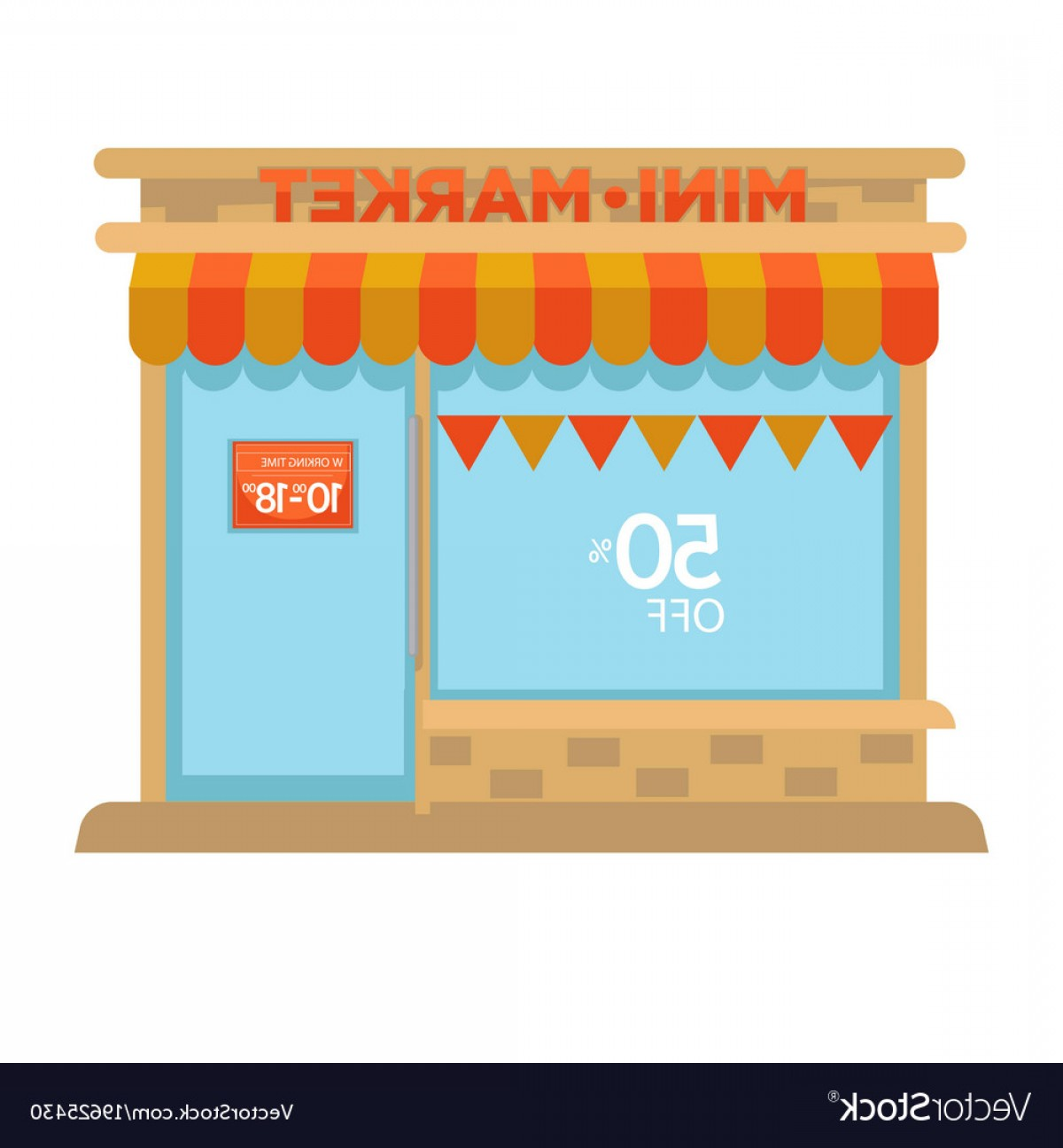 1200x1296 Mini Market Shop Booth Facade Building Of Grocery Vector Shopatcloth
