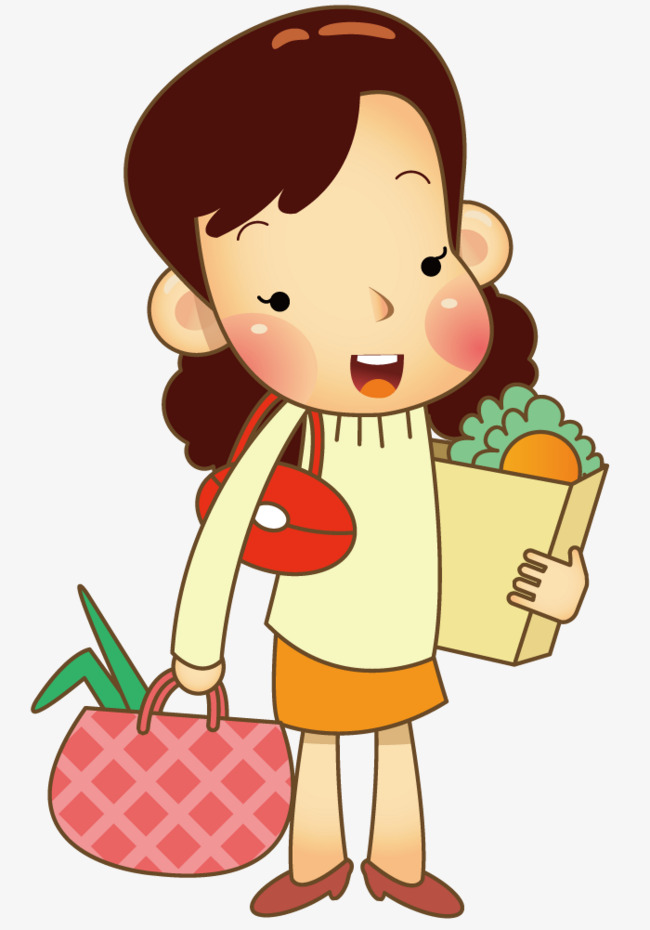 650x930 Mother Grocery Shopping, Shopping Vector, Grocery Shopping, Hand