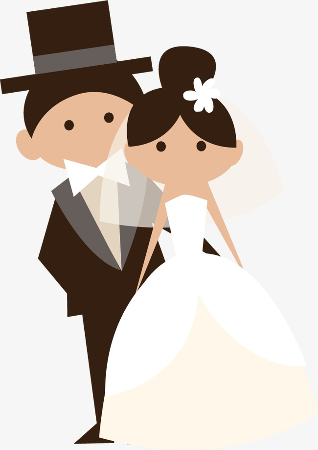 650x918 Cartoon Bride And Groom Vector Material, Wedding, Balloon, Bouquet
