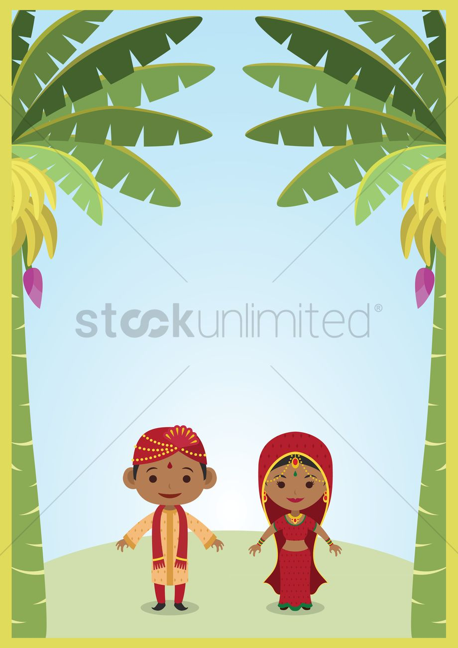 920x1300 Indian Bride And Groom Vector Image