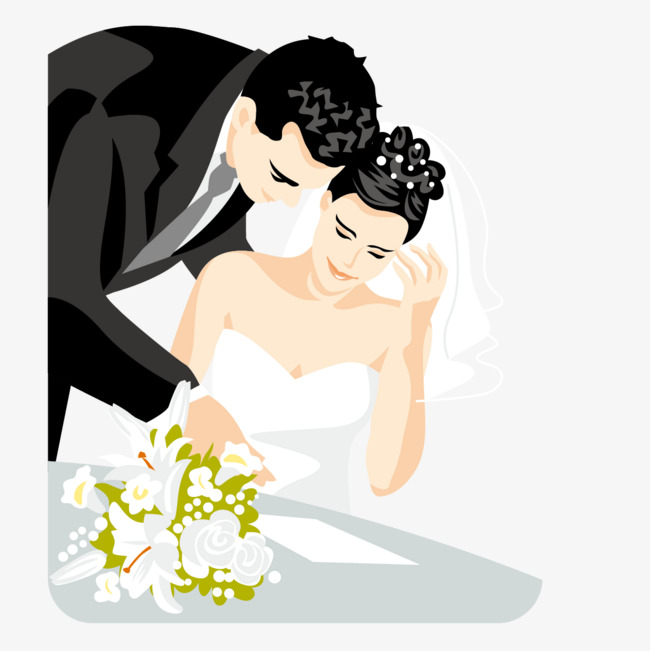 650x651 Reading The Bride And Groom Vector, Marry, Bouquet, Bride Png And