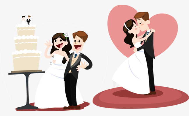 650x400 The Bride And Groom Vector Elements Png, Vector Bride, Bridegroom