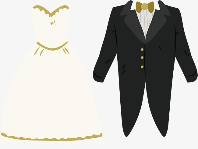 650x489 Wedding Dress Of The Bride And Groom, Wedding Vector, Dress Vector