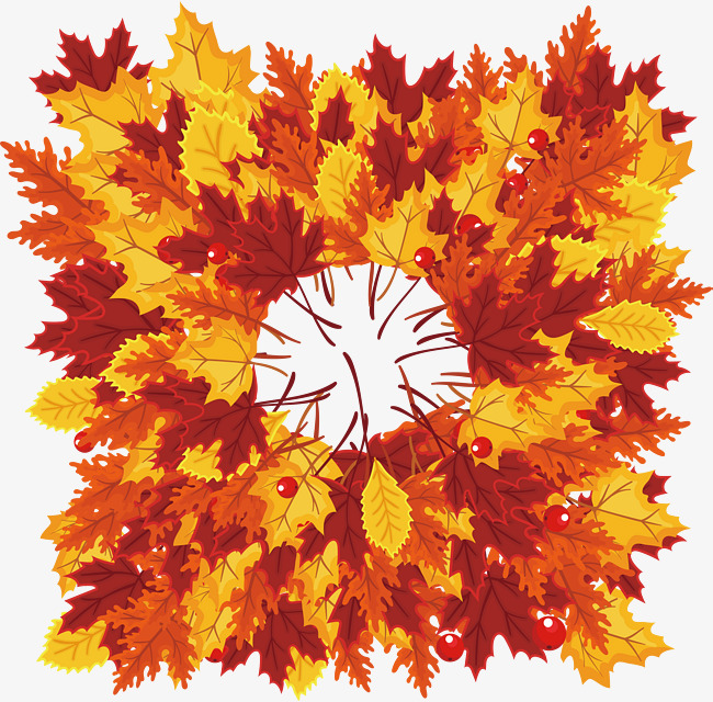 650x640 Maple Leaves Spread Over The Ground, Vector Png, Maple Leaves, Red