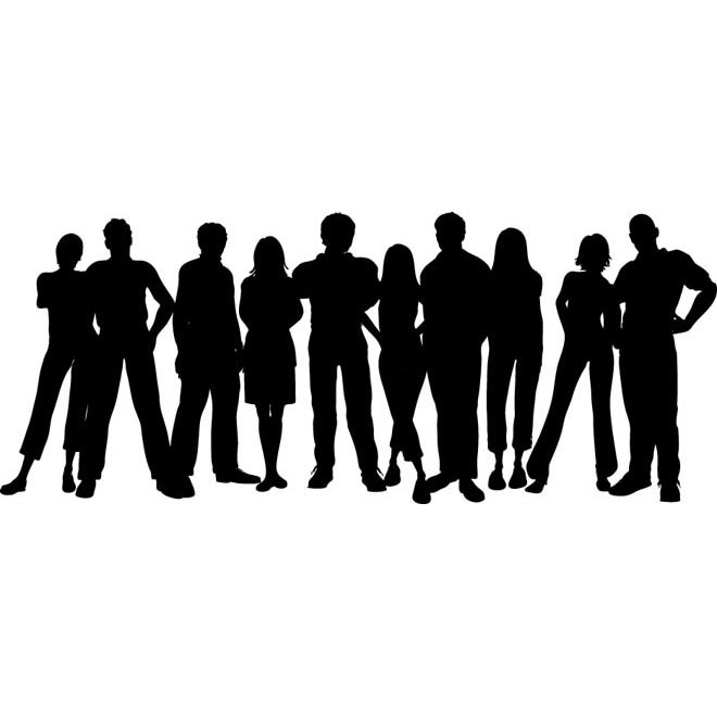 660x660 Free Vector Vector Group Of People Standing Clip Art