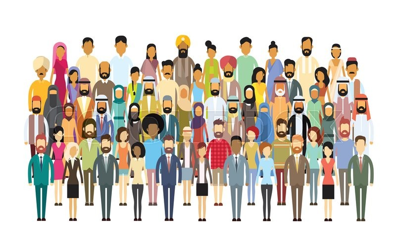 800x499 Group Of Business People Big Crowd Businesspeople Mix Ethnic