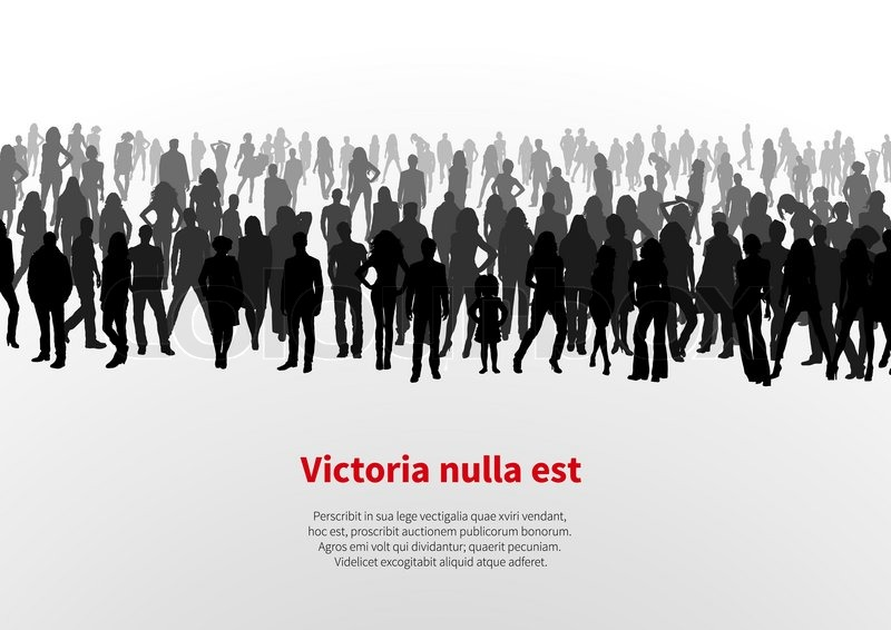 800x566 A Large Group Of People. Vector Background Stock Vector Colourbox