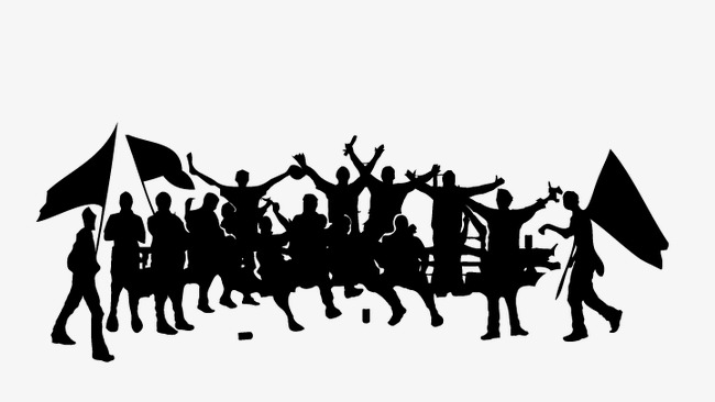 650x366 Silhouette Of A Group Of People, Silhouette Vector, People Vector