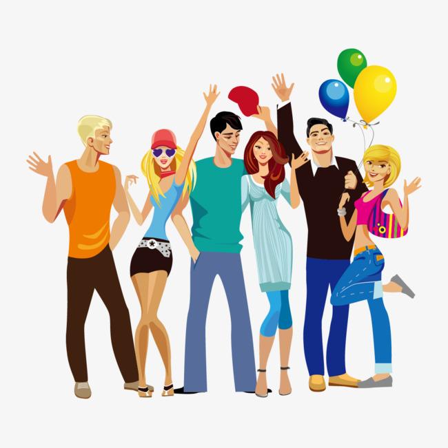 650x651 Vector Happy Group Of People, Vector, Joy, Happy Vector Png And