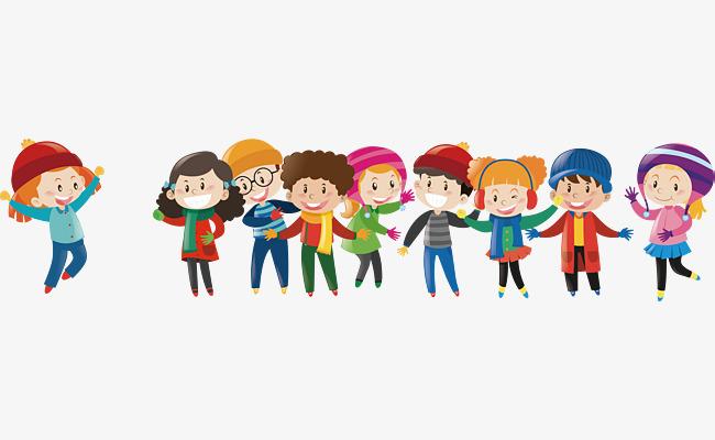 650x400 Vector Group Of Happy Children, Children Clipart, Student, Child