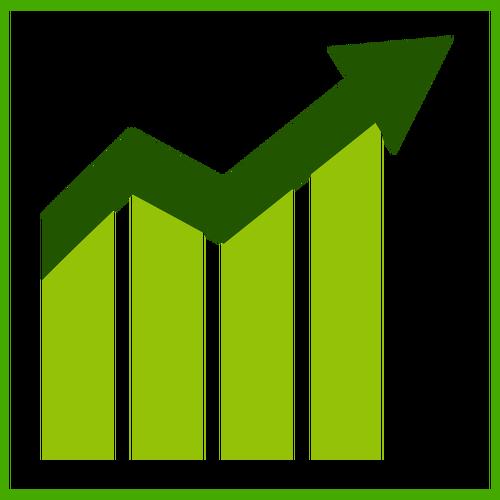 500x500 Eco Growth Vector Icon Public Domain Vectors
