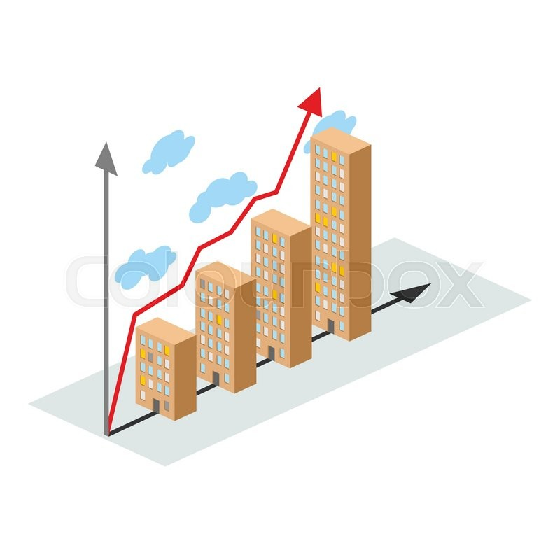 800x800 Graphics Construction Growth. Buildings Of City, And Growth