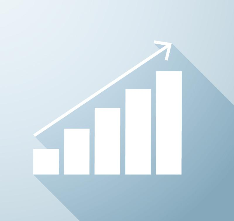 800x757 Simple Business Growth Chart Design Vector [Ai]