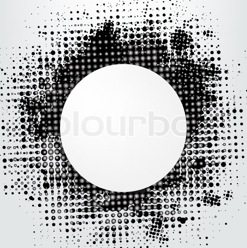 798x800 Grunge Background With Speech Bubble, Vector Illustration Stock