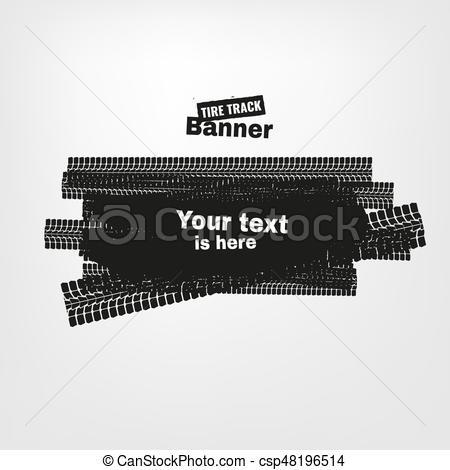 450x470 Grunge Tire Banners. Tire Tracks Print Texture. Horizontal Grunge