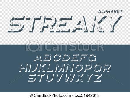 450x337 Decorative Textured Font With Grunge Effect. Vector Alphabet