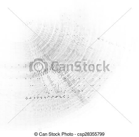 450x445 Grunge Halftone Vector Ink Background. Vector Halftone Dots