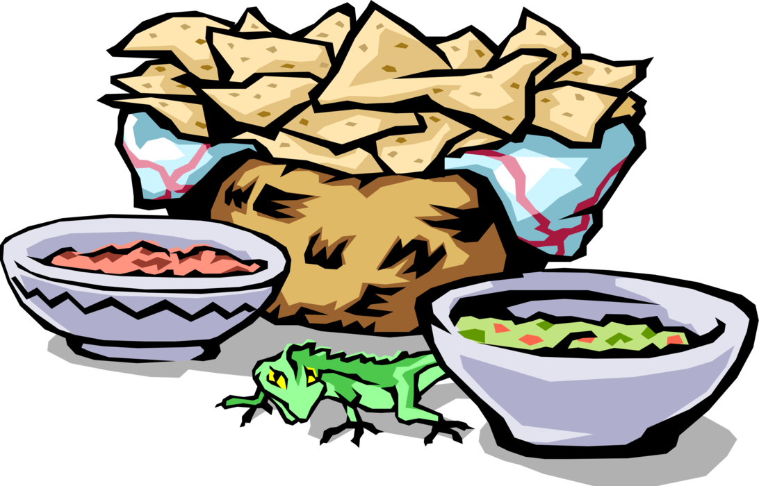 1092x700 Mexican Corn Chips, Salsa, Guacamole