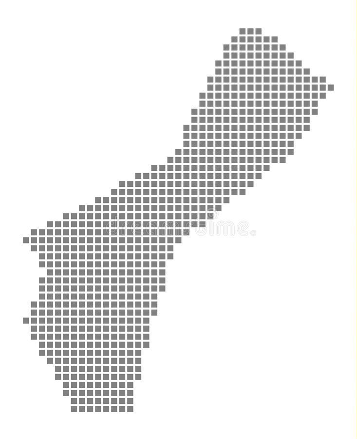 733x900 Guam Map Vector Pixel Map Of Guam Vector Dotted Map Of Guam