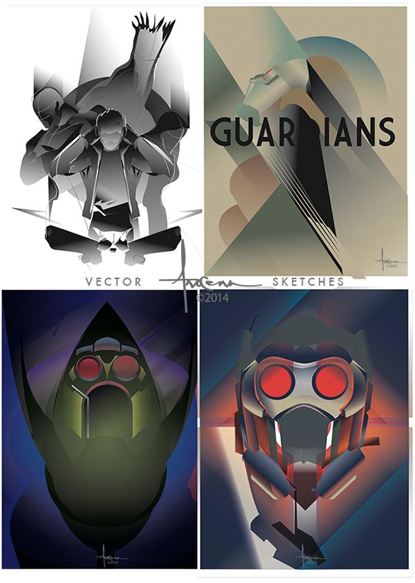 600x843 Guardians Of The Galaxy Vector Tribute By Orlando Arocena, Via