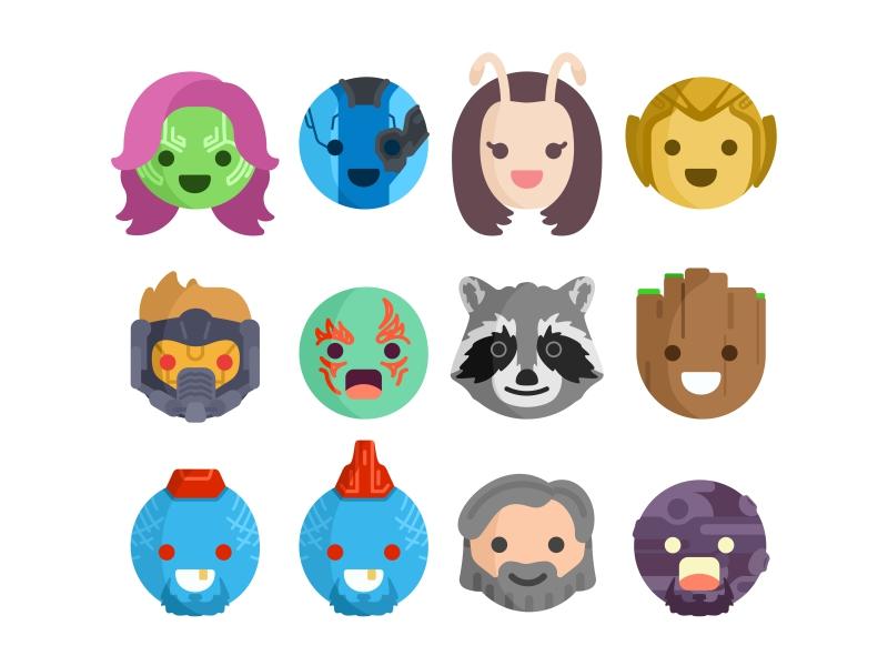 800x600 Guardians Of Galaxy Emoji By Aleksandar Savic