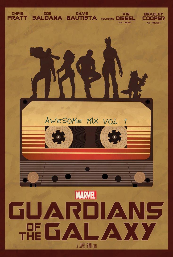 734x1087 Guardians Of The Galaxy Minimalist Movie Poster 7 Minimalisticle