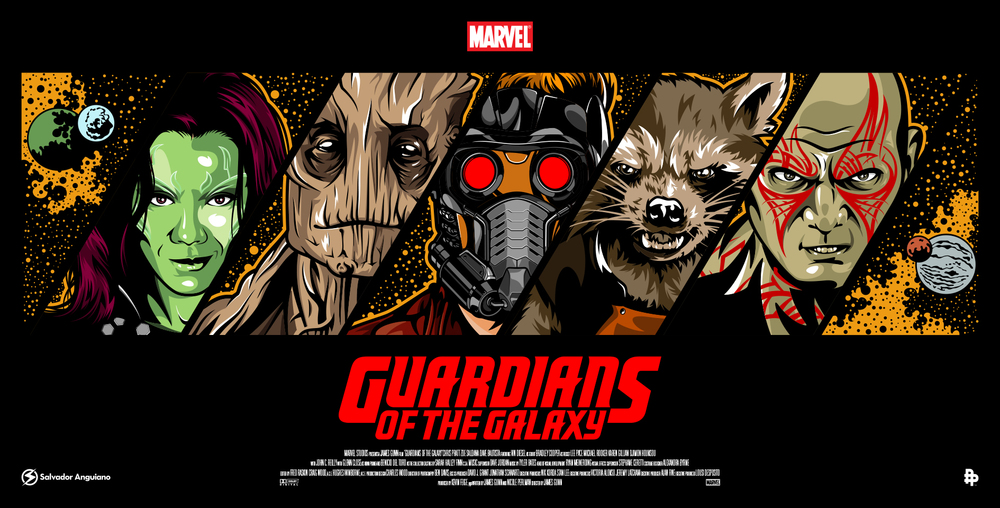 1000x508 More Guardians Of The Galaxy Art From The Poster Posse Geektyrant