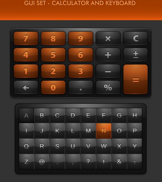 534x600 Gui Keyboard Numeric Keypad Icon Vector Texture Free Vector In