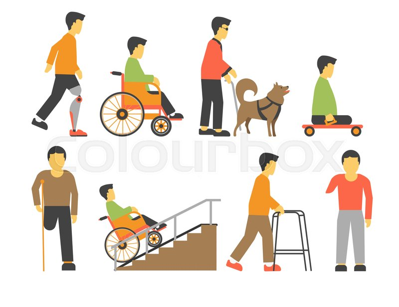 800x616 Handicapped People With Physical Disability. Man In Wheel Chair