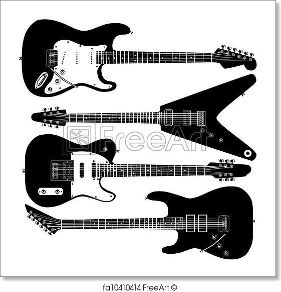 561x581 Free Art Print Of Electric Guitar Vector. Electric Guitars In