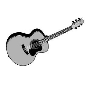 282x282 Acoustic Guitar Vector Free Vector Download 218915 Cannypic