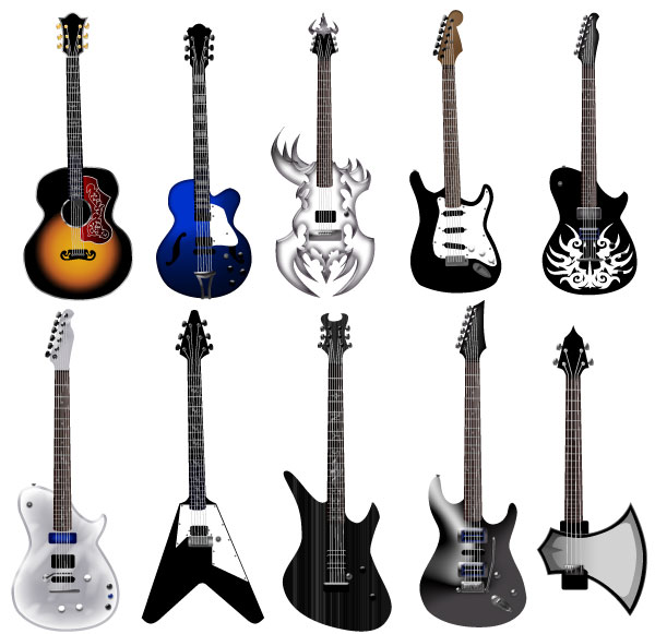 600x581 Guitar Vector Pack Download Free Vector Art Free Vectors