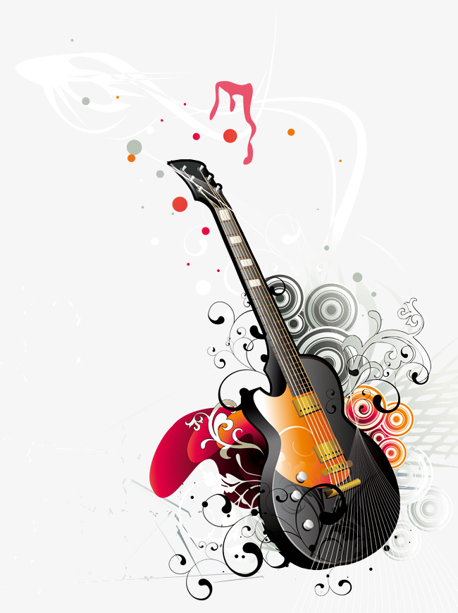 650x870 Guitar Vector Png, Vectors, Psd, And Clipart For Free Download