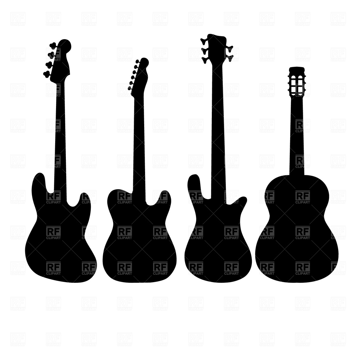 1200x1200 Guitar Silhouette Vector Image Vector Artwork Of Silhouettes