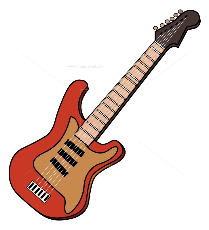 726x800 Guitar Vector Free Vectors, Illustrations, Graphics, Clipart
