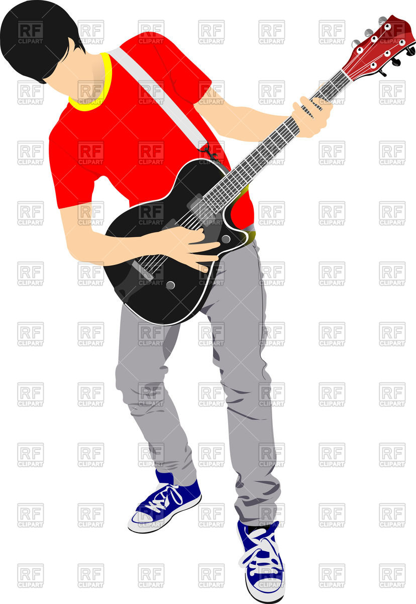828x1200 Man Playing Guitar Vector Image Vector Artwork Of People