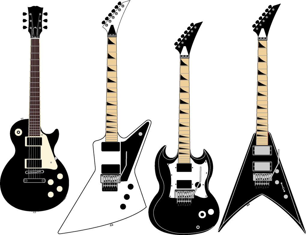 1019x783 Guitar Vector 10 An Images Hub