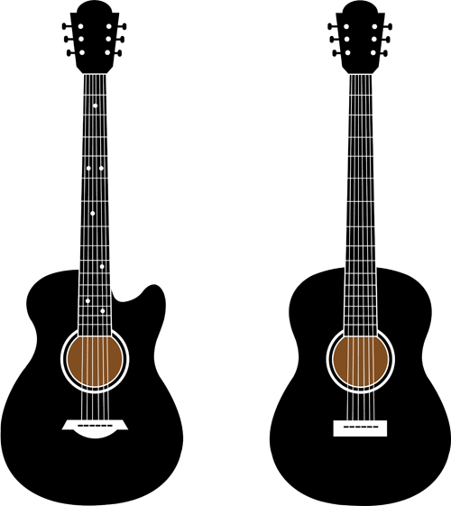 500x561 Black Guitar Vector Free Download