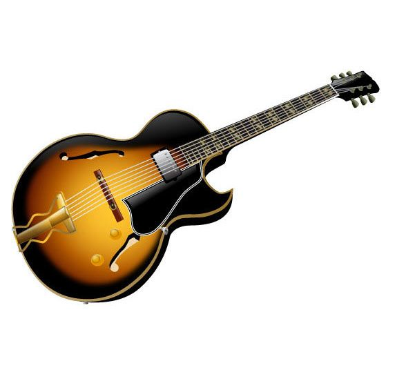 572x536 Download Here Free Guitar Vector Graphic In Ai, Cdr And Eps File