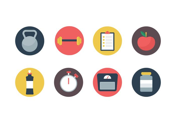 700x490 Free Flat Fitness And Gym Vector Icons