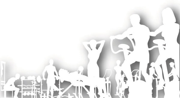 600x327 Gym Silhouette Vector Free Vector In Encapsulated Postscript Eps