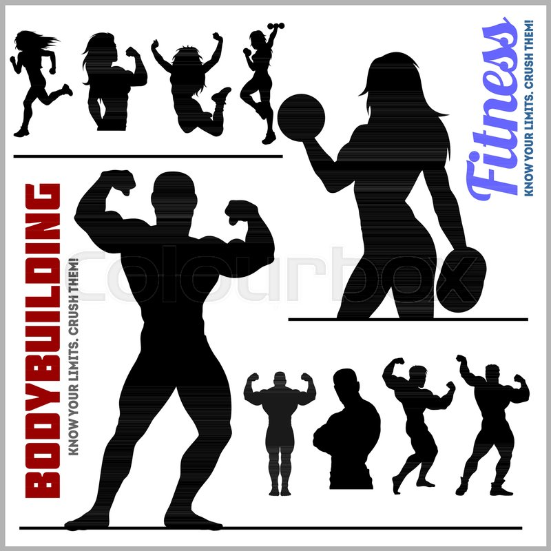 800x800 Silhouettes Of Bodybuilders And Fitness Girls