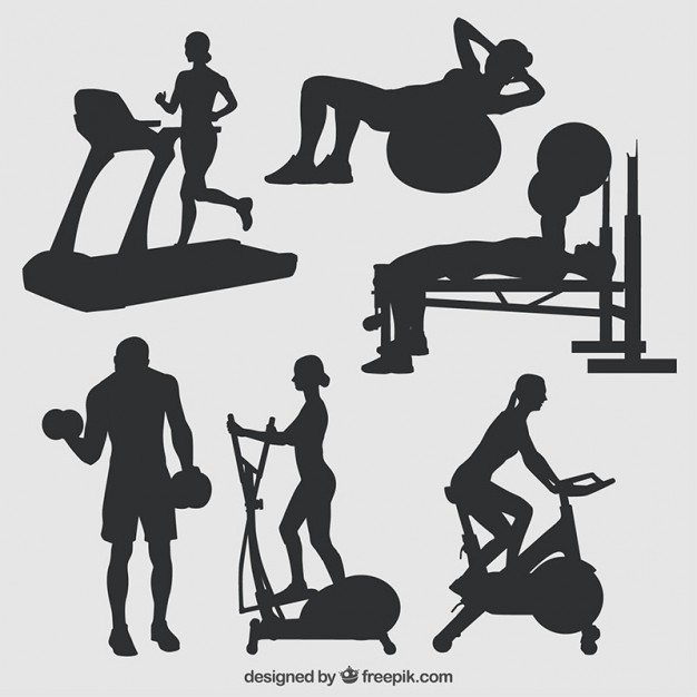 626x626 Silhouettes Of Gym Vector Free Download