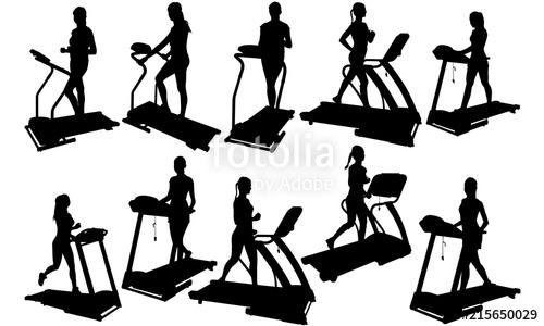 500x300 Woman On Treadmill Silhouette Fitness