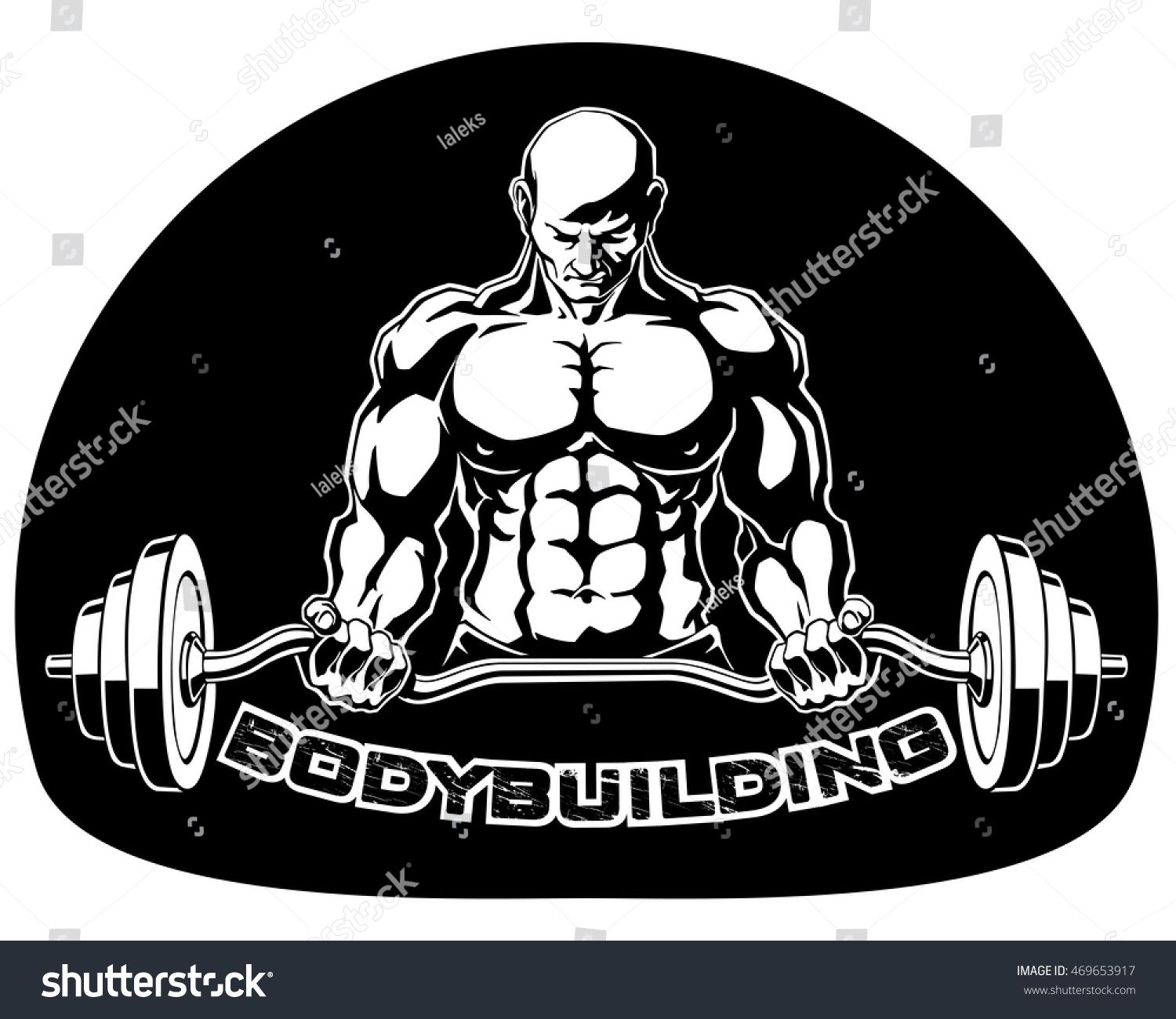 1500x1300 Strong Bodybuilder With Big Muscles Barbell Presses In The Gym
