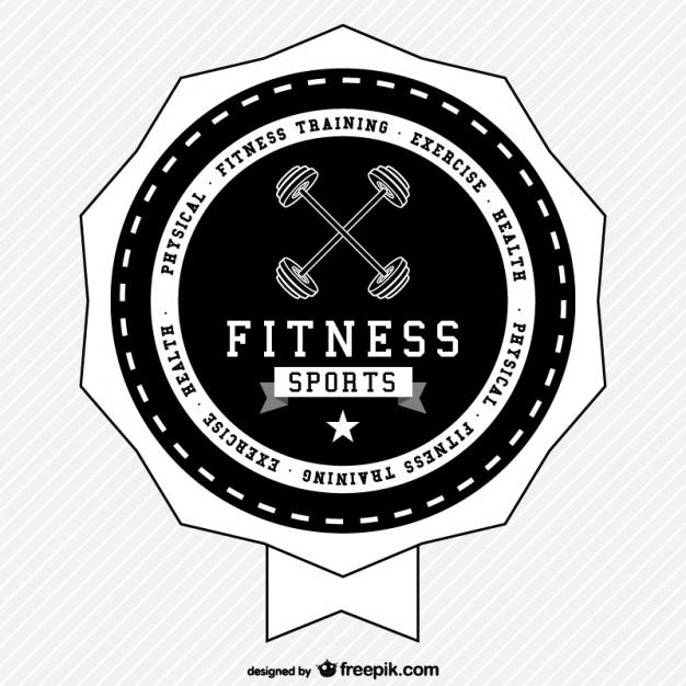 626x626 Fitness Sports Retro Logo Free Vector Free Vectors Ui Download
