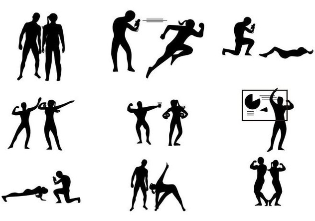 632x443 Free Gym Personal Coach Trainer Vector Free Vector Download 444973